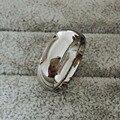 Clássico real branco banhado a ouro 8mm titanium aço mulheres homens amantes de casamento anel de casamento top quality não desaparecem jóias