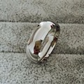 Classic Real white Gold Color 8mm Titanium Steel Women Men Wedding Ring Top Quality Do not fade Lovers Wedding Jewelry