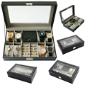 2019 luxus 8 + 3 Grids Uhr Box Uhr Box Schmuck Box Zeit Box Schmuck veranstalter Juwelier halter für Schmuck und Uhr Halten