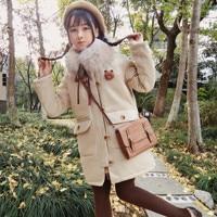 Japanese college style sweet lolita cotton clothes peter pan collar loose warm victorian coat kawaii girl gothic lolita coat