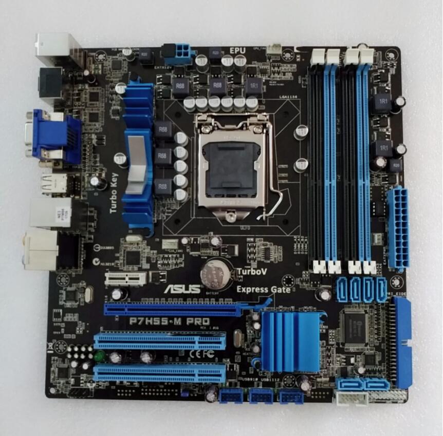 D'origine carte mère ASUS P7H55-M Pro LGA 1156 DDR3 16 GB pour I3 I5 I7 cpu H55 bureau carte mère livraison gratuite