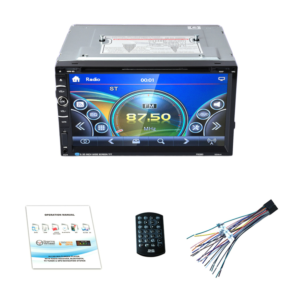 LESHP 7in Double 2Din 800 * 480 Car Audio Car Stereo Auto USB Bluetooth Radio FM 45W*4 Car Radio Without GPS DVD No Android fm 480