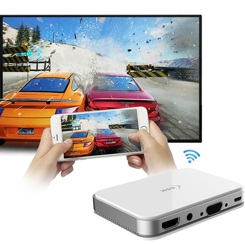 SSK sans fil HDMI Dongle Miracast 2.4/5G 1080P WiFi médias affichage WIFI adaptateur sans fil TV Stick Miracast Airplay DLNA