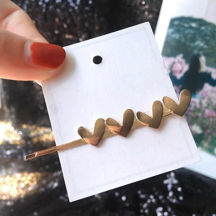 Baru Perhiasan Fashion Logam Kata Klip Samping Gadis Lucu Poni Klip Rambut Aksesoris Pernikahan Aksesoris Rambut Pin Rambut Perhiasan