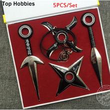 5PCS/P COOL Naruto cosplay 16cm kunai+11cm shuriken ninja weapon anime costume accessories Gift Children Toy Peripherals in BOX