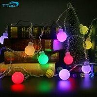 ノベルティ5メートル20大型ledライト花飾りパーティーボールストリングランプledクリスマスライト妖精ウェディングガーデンペン