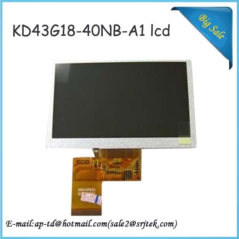 4.3 inch KD43G18-40NB-A1 KD43G18 A5 4.3 C430P T43P12 GPS lcd screen display with Touch Glass Sensor screen With Free Shipping