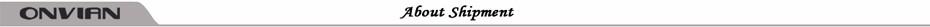 onvian about shipment