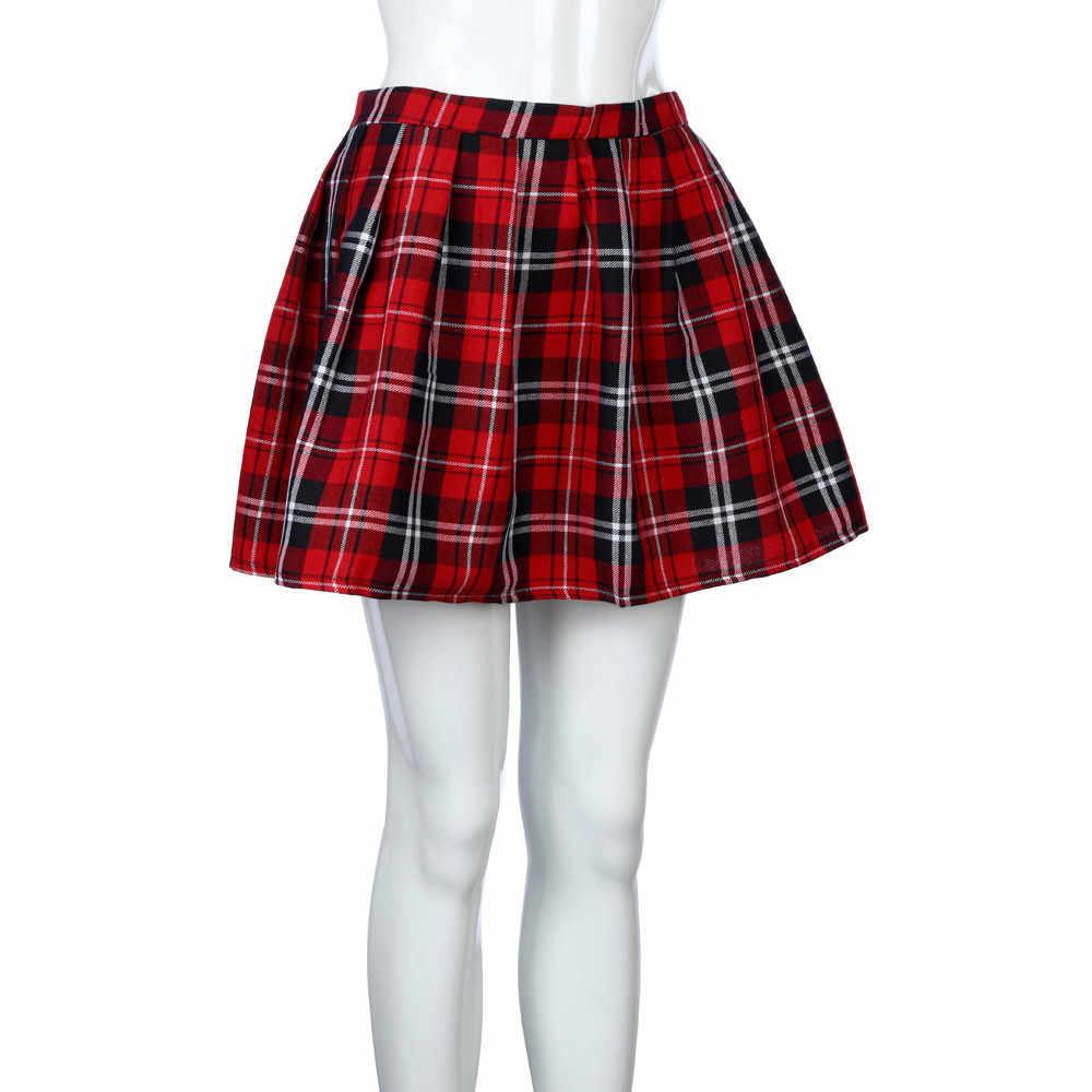 0b252dd4af Plus Size Red Plaid Mini Skirt   Saddha