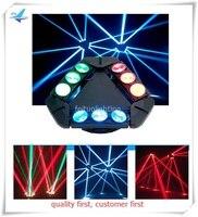 6 шт./лот 9x10 Вт тройной RGBW CREE светодиодный линейный сканер паук головка перемещения луча DJ световой эффект