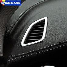 CNORICARC In Acciaio Inox Cruscotto Aria Condizionata Presa di decorazione cornice per Mercedes Benz GLC X253 classe C W205 15-17