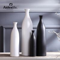 white vases abstract ceramic art geometric decor home decoration accessories modern european flower vase friend gift