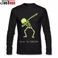 Dabbing Skeleton Men S T Shirts Dragon Ball Goku T Shirt Long Sleeve Men S Shirt