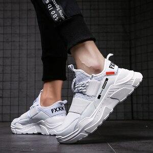 Image 5 - Мужские кроссовки, мужская повседневная обувь для прогулки, вождения, Офисная Уличная обувь на плоской подошве комфортная легкая дышащая мужская обувь на весну