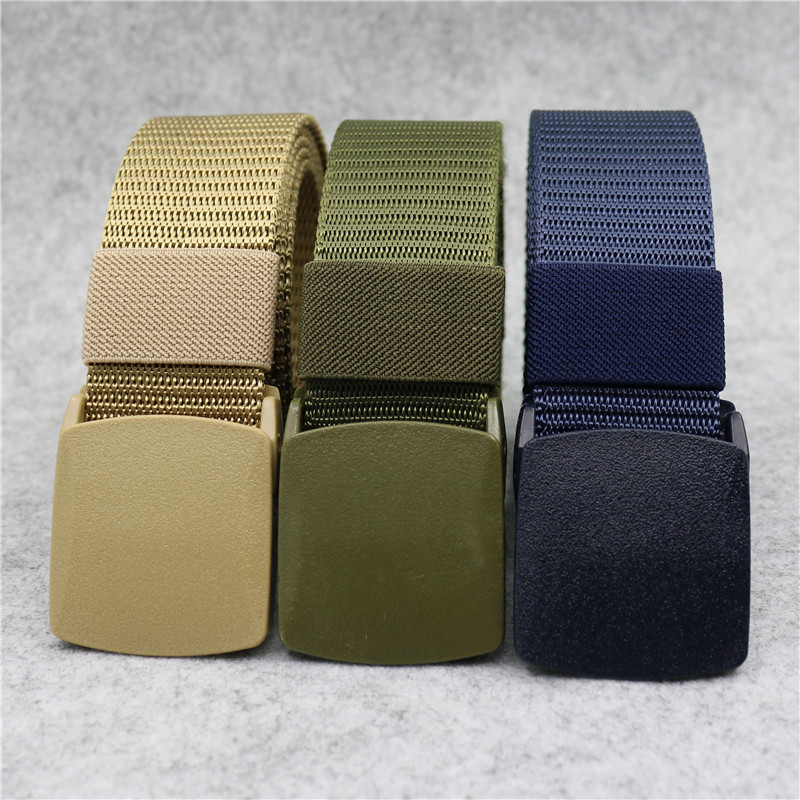 New Children's Canvas Belt Plastic Buckle Nylon Boys Children Casual Tactical Belt Kids Waist Belt High Quality Personality Belt
