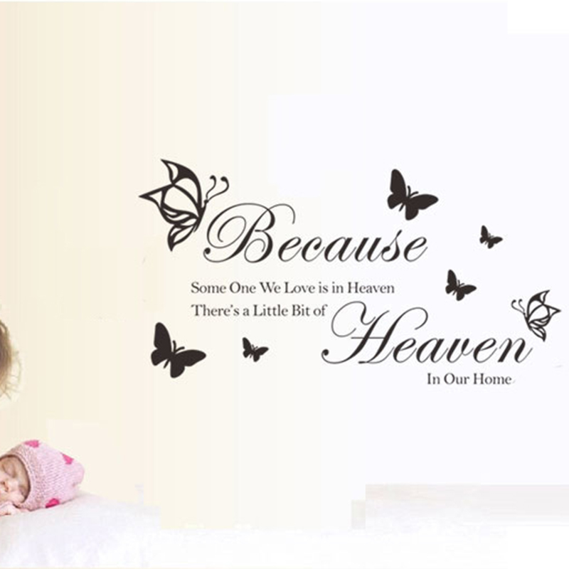 Office Bedroom Decorative Butterfly English Home Decorative English live laugh love Wall Art Sticker