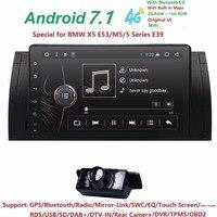 9 дюймовый Android 7,1 4 ядра 2 г + 16 г gps dvd плеер ленты Регистраторы радио 4 GWifi для BMW E39 2002 2003 E38 X5 E53 M5 Range Rover