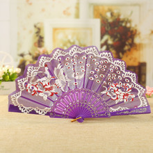 lace fan female folding fan and fan sub-elegant and elegant Chinese style