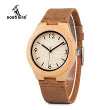 Bobo Vogel WA44 Japanse Beweging Quartz Bamboe Houten Horloges Zachte Lederen Band Jurk Horloge Voor Vrouwen Oem Drop Shipping