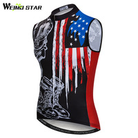 Weimostar bike Vest Men Summer USA Team Reflective cycling Clothing Sport MTB Cycle Bicycle Wear Clothes Quick Dry cycling gilet