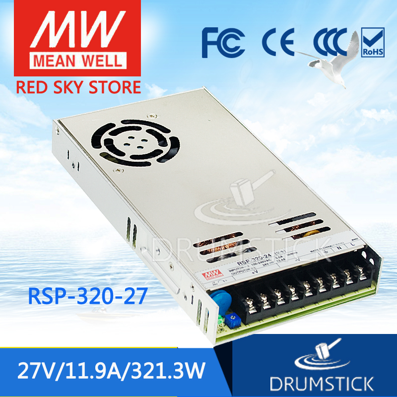 цена на Selling Hot MEAN WELL original RSP-320-27 27V 11.9A meanwell RSP-320 27V 150W Single Output with PFC Function Power Supply