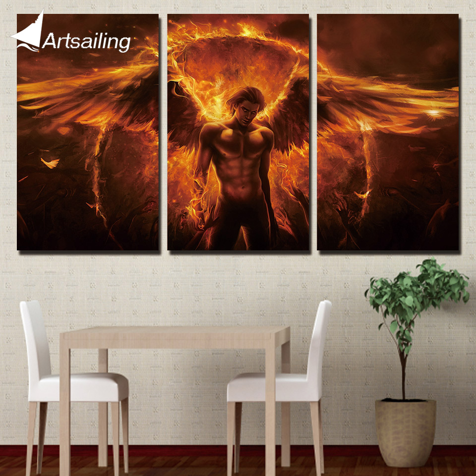 3 piece canvas painting harry porter castle HD posters and prints canvas painting for living room free shipping/XA-1750A