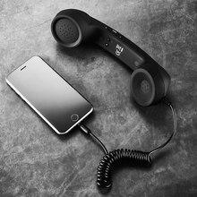 3.5mm Retro Telephone Receiver w Mic Comfort Telephone Heads