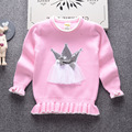 Winter long sleeve knitted sweater children clouds pattern princess baby sweater girls children toddler girls clothing sweater