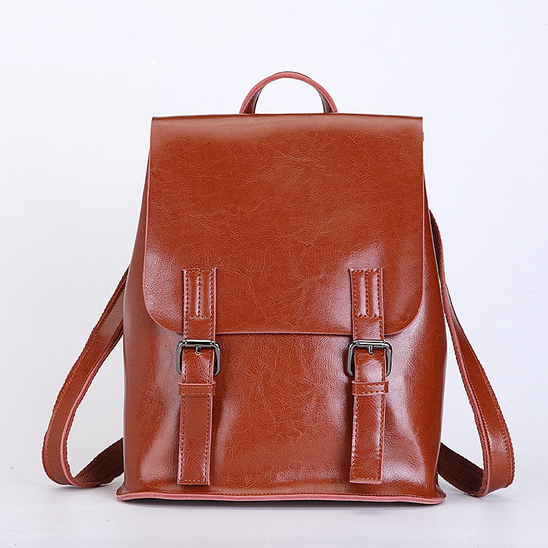 New Split Leather back pack/men and Women Casual Shoulder Bag/fashion Retro Backpack/leisure Student Schoolbag for Teenagers 2017 fashion women waterproof oxford backpack famous designers brand shoulder bag leisure backpack for girl and college student