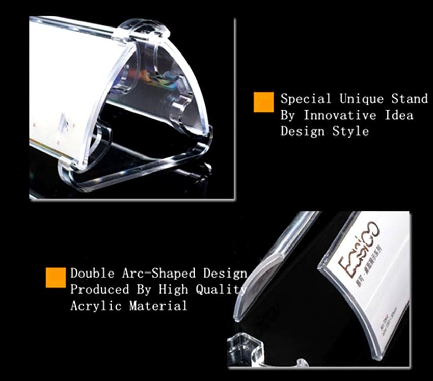Clear 3u0027u0027 X 2u0027u0027 Plastic Acrylic Reusable Desktop Double Display Paper  Nameplate Sign Card Label Holder Stand 500pcs In Badge Holder U0026 Accessories  From ...