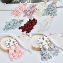 Lace fringe tassel handmade DIY earrings ear jewelry homemade material package accessories футляры для линз handmade homemade diy