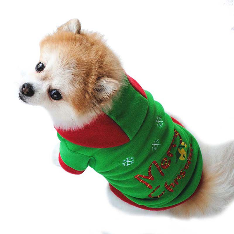 Merry Christmas Dog Clothes french bulldog Chihuahua Pug Pet Winter Hoodies  with Caps Christmas Outfit Ropa Perro Dog Costumes-in Dog Hoodies from Home  ... - Merry Christmas Dog Clothes French Bulldog Chihuahua Pug Pet Winter