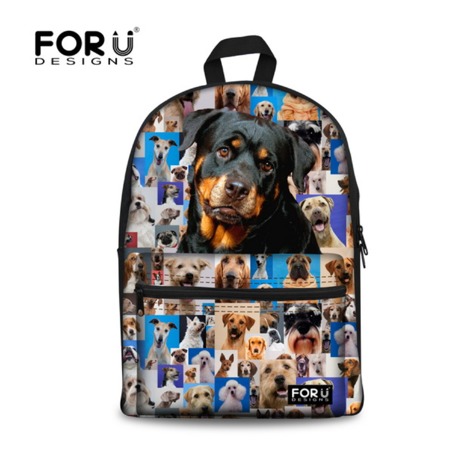 School bags online cheap - Forudesigns Cute Children School Bags French Animal Pug Dog Schoolbag For Teenager Girls High School Child