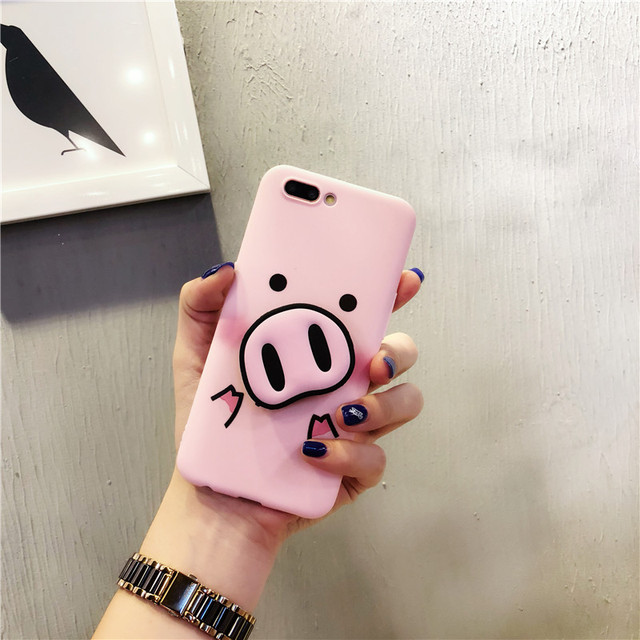 Cute Cartoon Pig Phone Case For iPhone 3