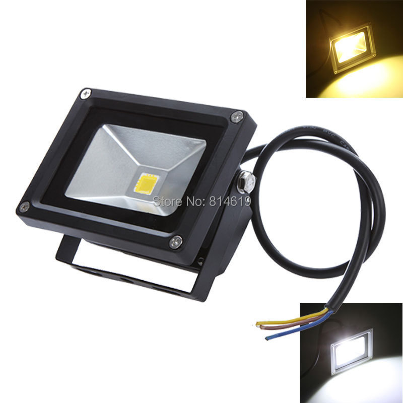 1pcs / lot 12V 10W 20W LED Flood Light udendørs vandtæt IP65 projekt belysning / gade lampe varm / kølig hvid Gratis forsendelse