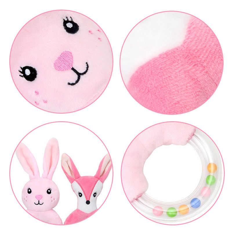 Мультяшные детские погремушки, милые животные, колокольчики, плюшевые мягкие игрушки для новорожденных, для малышей, для маленьких мальчиков и девочек, обучающие игрушки
