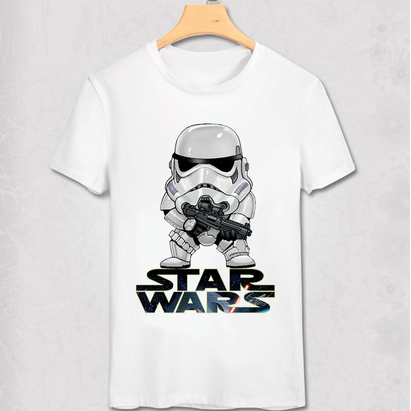 Stormtrooper T Shirts Star Wars Cosplay Game ALL Role Customized Print T Shirt Robot Soldiers Commander Cool Short Sleeve Shirt