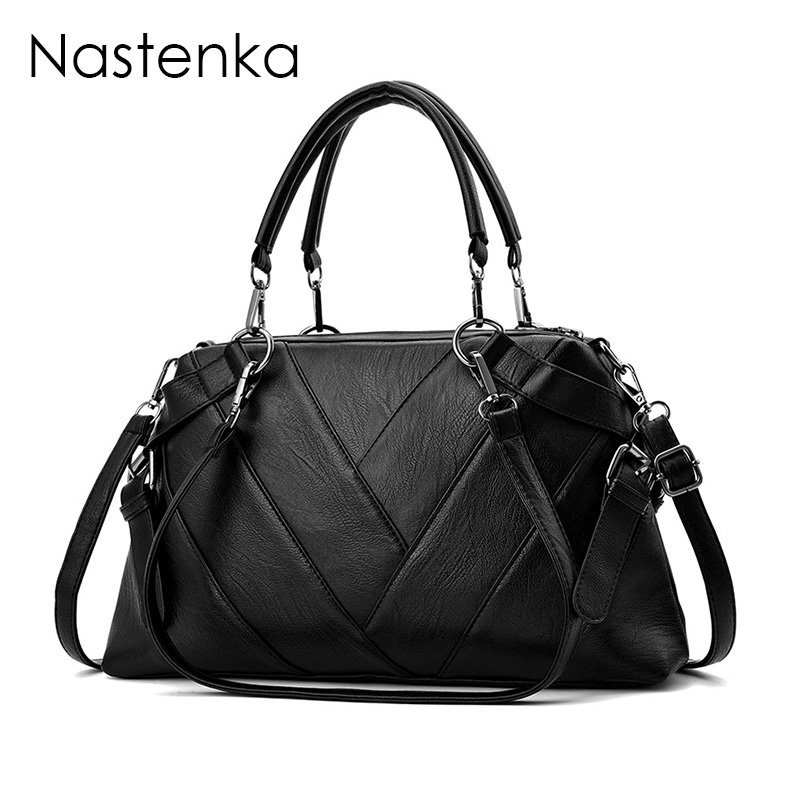 Nastenka Women Bags Vintage Leather Shoulder Bags Women Messenger Bag Crossbody Designer Top-Handle Handbags Ladies Handbag Tote women cow leather handbags women messenger bags designer crossbody bag women tote shoulder bag top handle bags