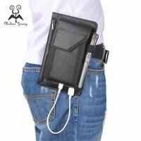 Mode Für Samsung 6,3/5,5 zoll Beuteltelefonkastens Pu-leder multifunktionale reißverschluss doppel-gedeckten bergsteigen tasche Brieftasche