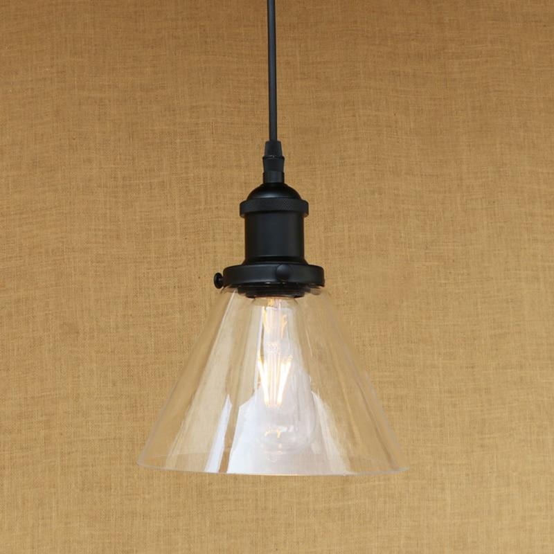 Lamp Shade Shapes aliexpress : buy modern 3 shapes glass shade pendant lamp led