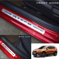 NEW ATECA Stainless Steel Door Sill Scuff Plates Car Door Sill Protector For For SEAT ATECA FR X Perience 2017 2019