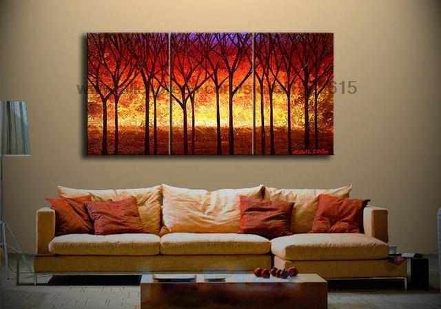 oil painting on canvas wall art panels 3 panel 3 pcs set wall art