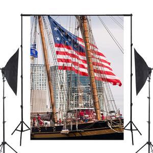 Image 2 - Fondo de fotografía de barcos altos accesorios de estudio pared río agua fotografía telón de fondo 5x7ft