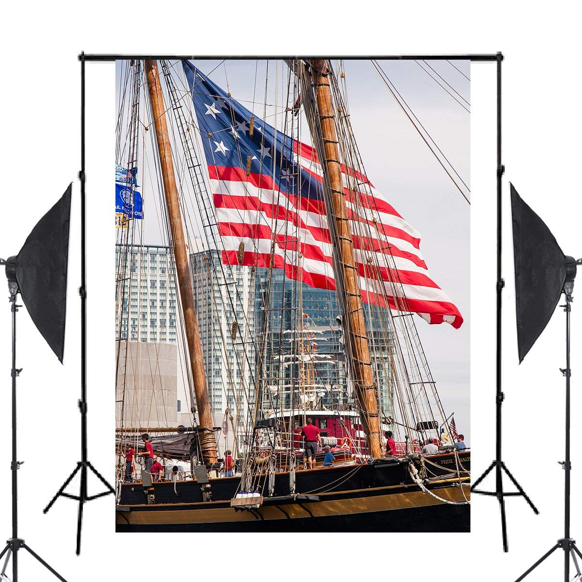 Image 2 - Tall Ships Photography Background Studio Props Wall River water Photography Backdrop 5x7ft-in Photo Studio Accessories from Consumer Electronics