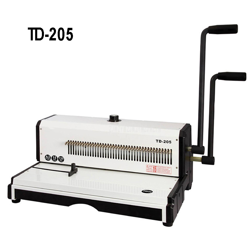 TD 205 Large Spiral Wire Binding Machine Metal 50 Square