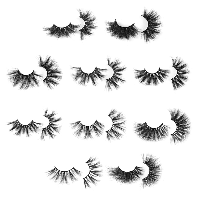 1 Pair Extra Long 30MM Mink Lashes 3D False Eyelashes Wispy Multilayer Eyelashes Cruelty-free Handmade Natural Eyelash Makeup 3