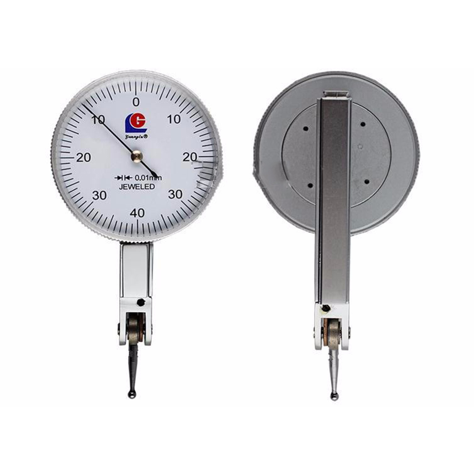 Dial Indicator 0-0.2mm Precision 0.01mm Leverage Micrometer Test Gauge Reloj Comparador Measure Tools 100% original japan mitutoyo 513 475e dial indicator 0 0 2mm 0 002mm dial test gauge micrometer measuring tools