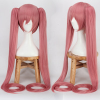 High Quality 120cm Long Aquamarine Wig VOCALOID Cosplay Wig Hatsune Miku Costume Play Wigs Halloween Party