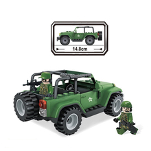 compatible LegoINGlys military WW2 war US army SUVS car Building Blocks model mini soldier figures bricks toys for children gift цена 2017