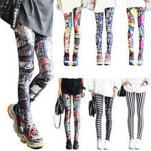 Fashion Leggings Sexy Casual Highly Elastic and Colorful Leg Warmer Fit Print Sporting Workout Athletic Leggins Pants Trousers